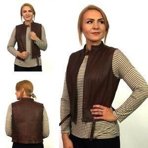 Leather Cabi Vest
